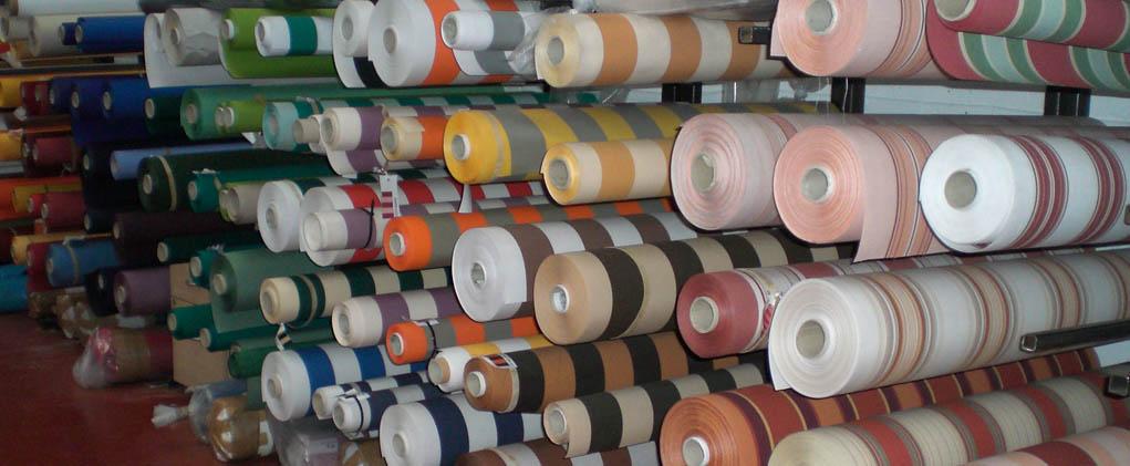 Striped awning fabrics