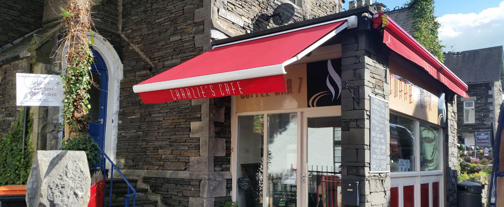 Bobcat cafe awning