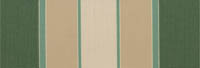 green, beige and cream stripe awning fabric