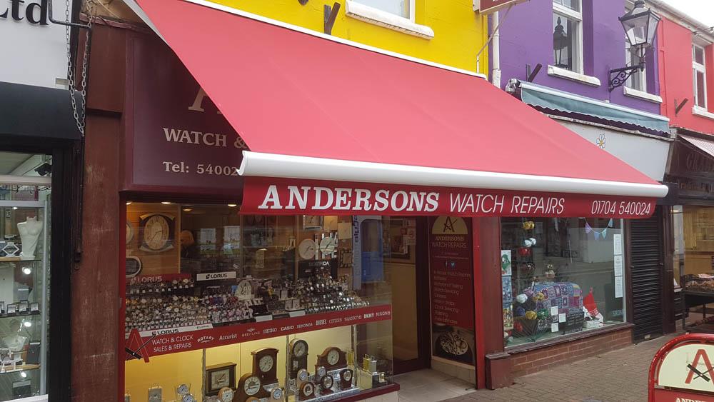 Shop Awning Merseyside