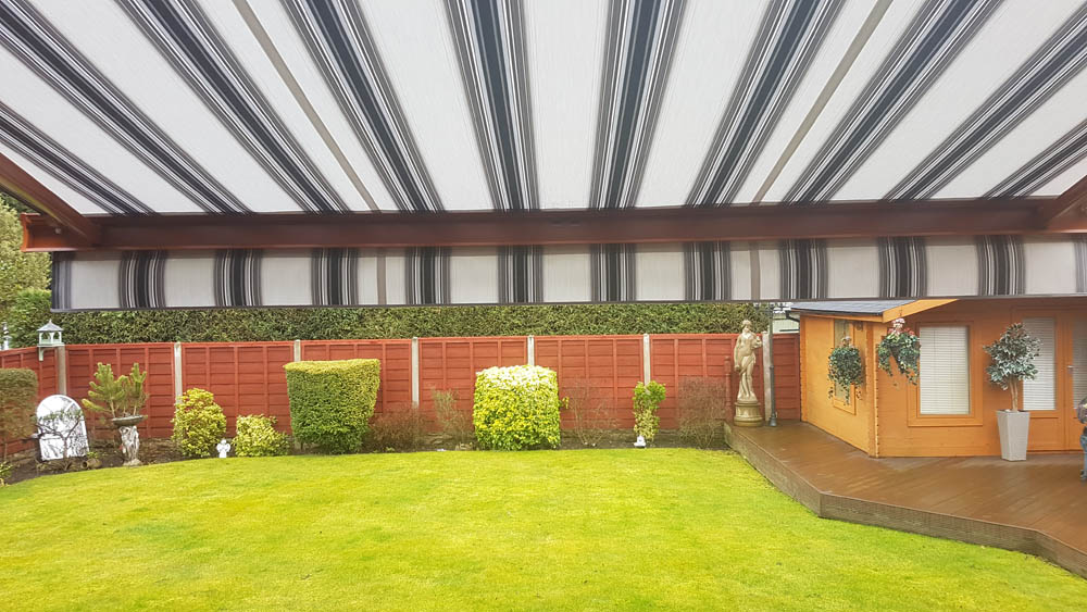 garden awning fitted in UK